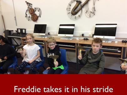 4 Freddie takes it in his stride