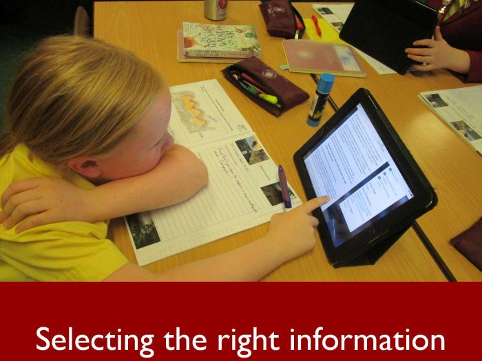 6 Selecting the right information