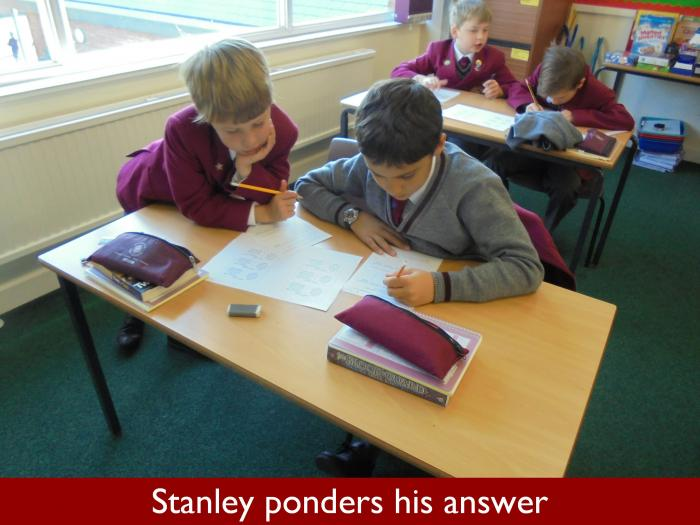 5 Stanley ponders his answer