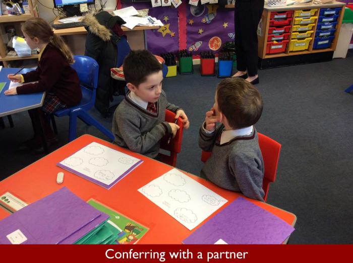 3 Conferring with a partner