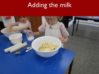 10 Adding the milk