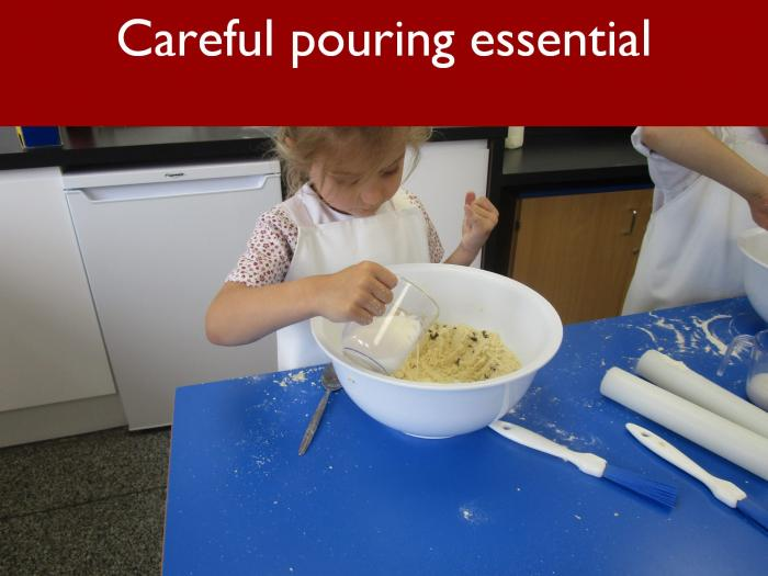 11 Careful pouring essential