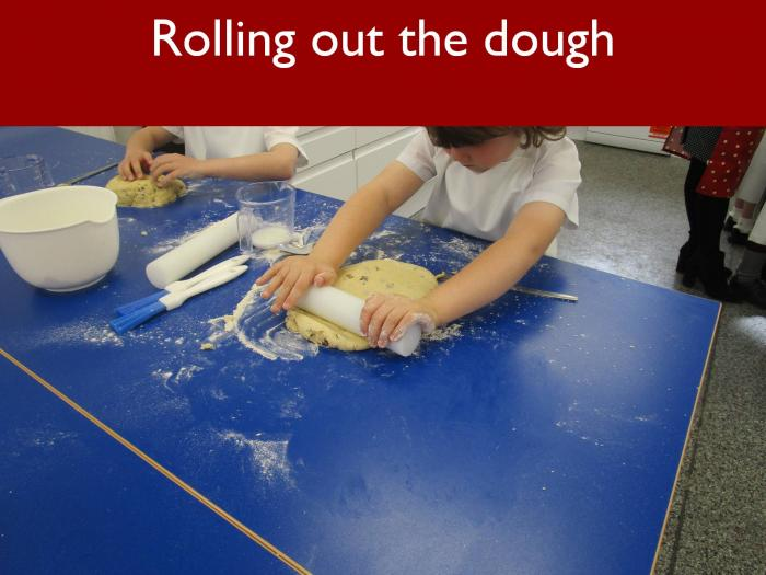 14 Rolling out the dough