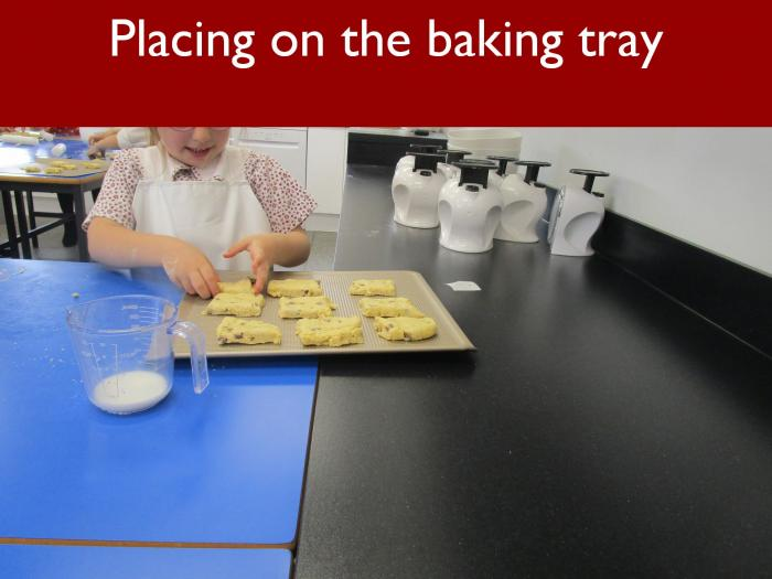 18 Placing on the baking tray