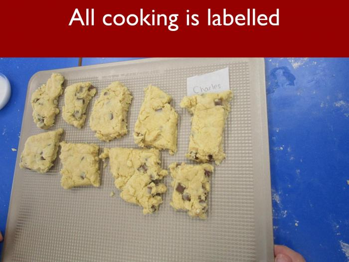 19 All cooking is labelled