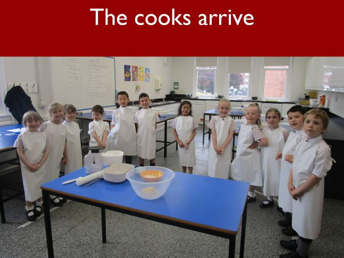 5 The cooks arrive