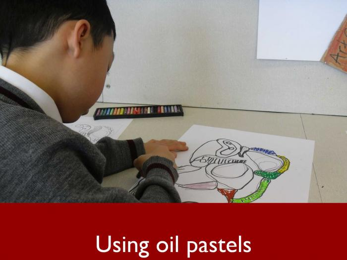 4 Using oil pastels