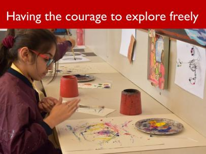 A2 Having the courage to explore freely