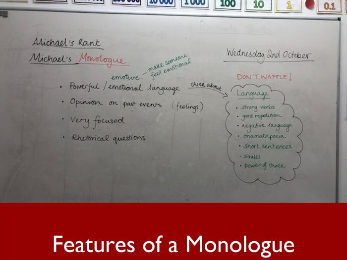 2 Features of a Monologue