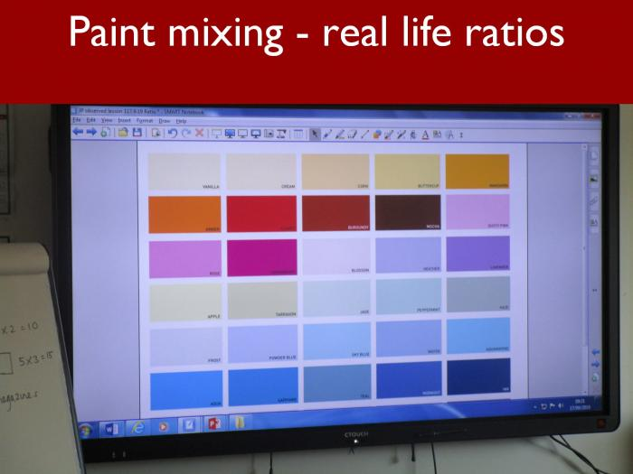13 Paint mixing real life ratios