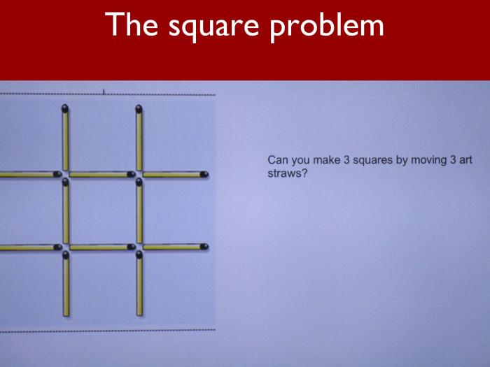 3 The square problem