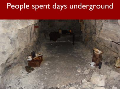 10 People spent days underground