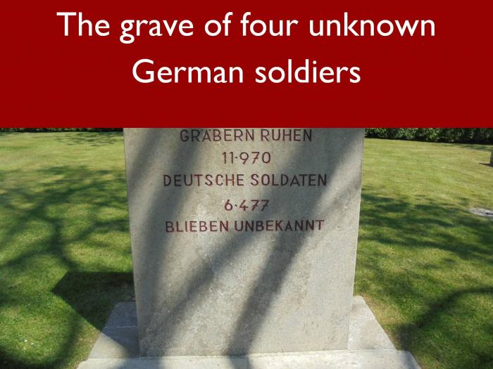 15 The grave of four unknown German soldiers