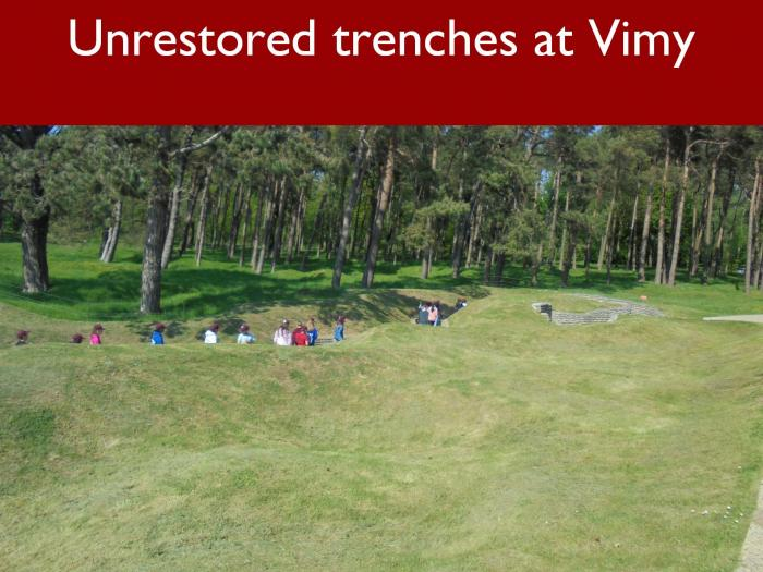 18 Unrestored trenches at Vimy