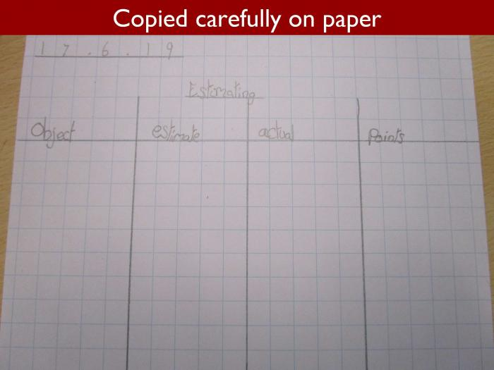 7 Copied carefully on paper
