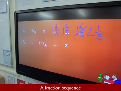02 A fraction sequence