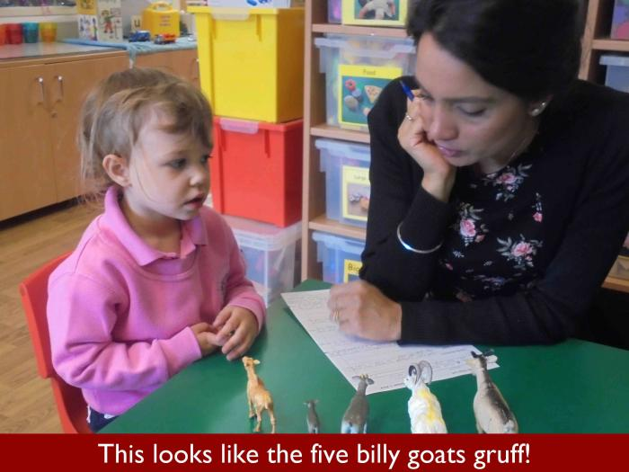 6 This looks like the five billy goats gruff