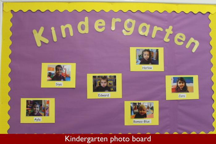 6 Kindergarten photo board