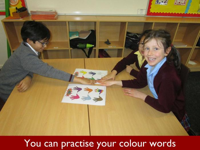 3 You can practise your colour words