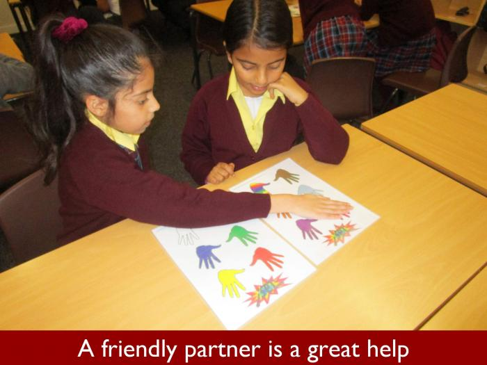 4 A friendly partner is a great help