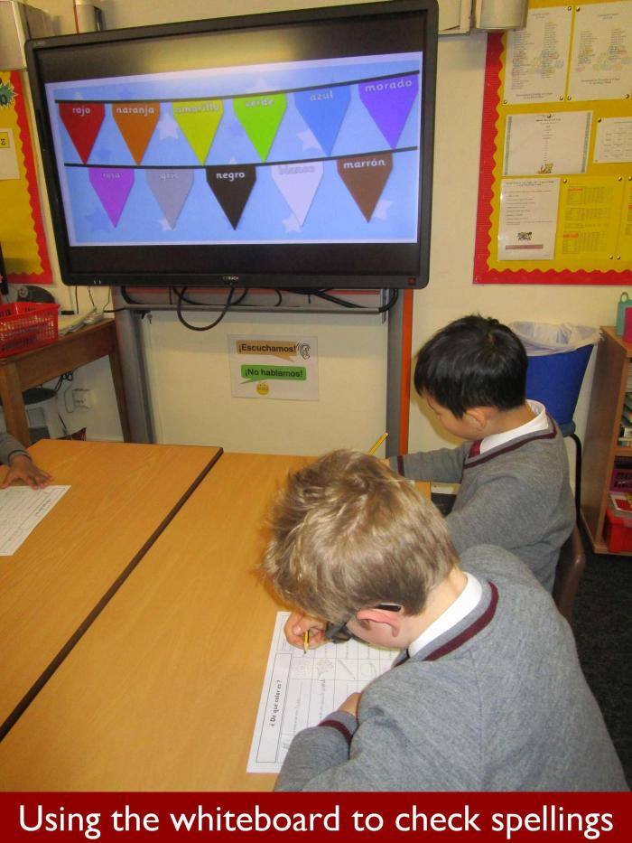 6 Using the whiteboard to check spellings