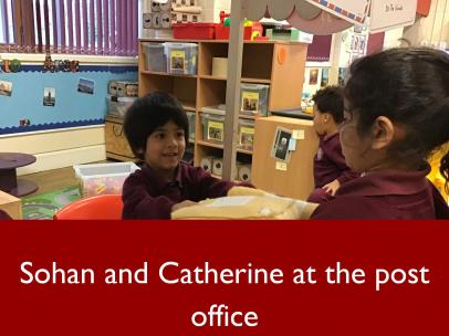 12 Sohan and Catherine at the post office