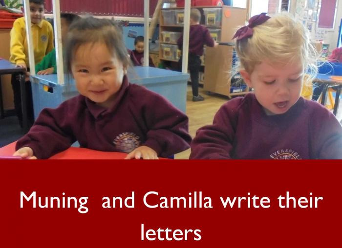 5 Muning and Camilla write their letters