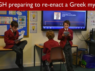 10 5GH preparing to re enact a Greek myth