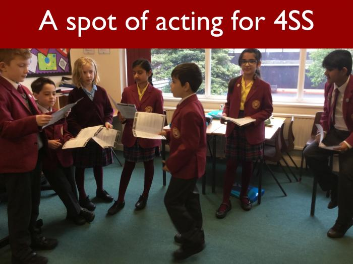 13 A spot of acting for 4SS