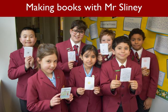 16 Making books with Mr Sliney