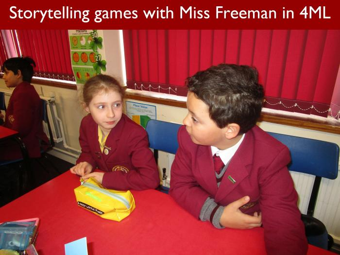 17 Storytelling games with Miss Freeman in 4ML