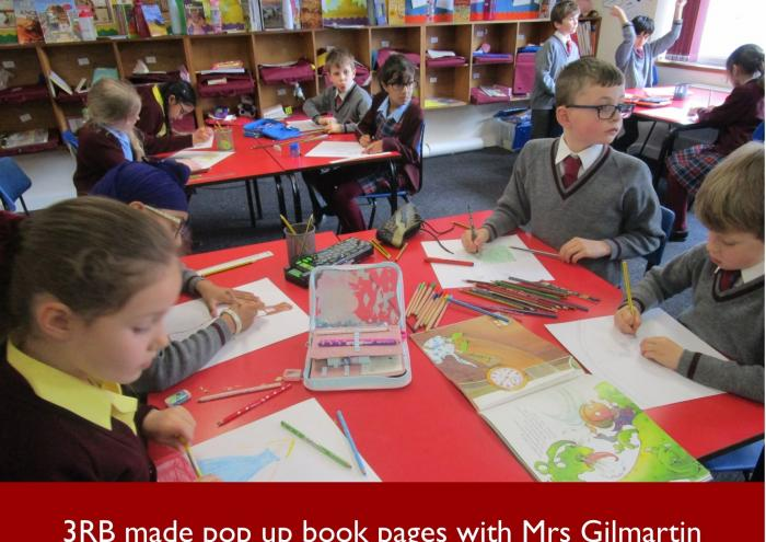 18 3RB made pop up book pages with Mrs Gilmartin