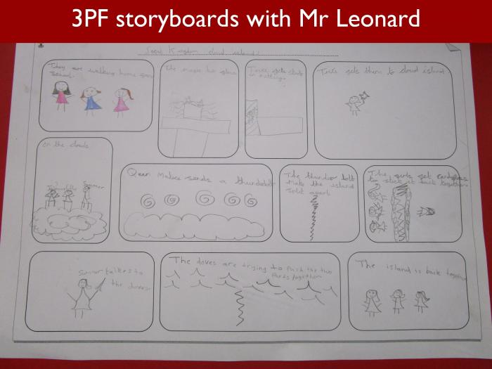 21 3PF storyboards with Mr Leonard