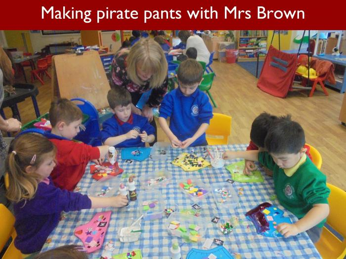 39 Making pirate pants with Mrs Brown
