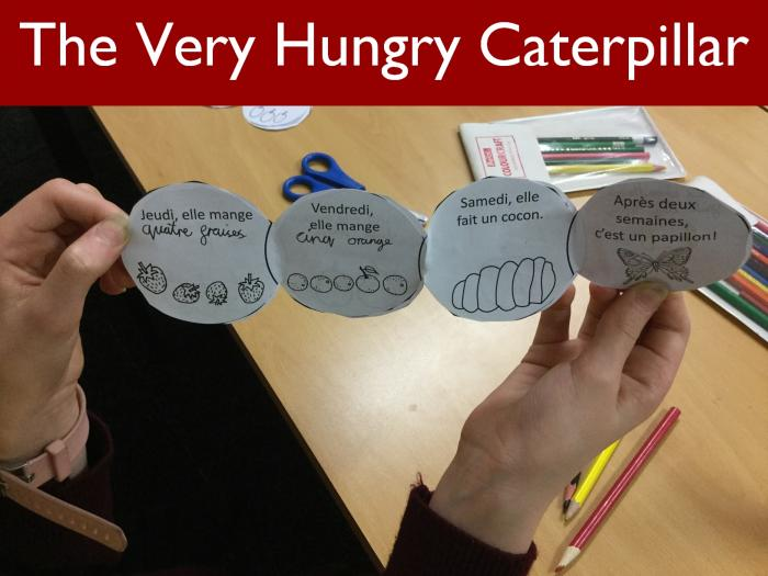 4 The Very Hungry Caterpillar in French
