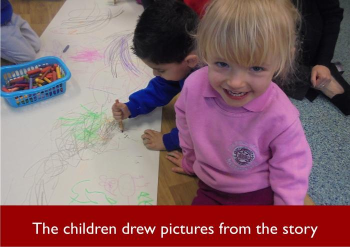 41 The children drew pictures from the story