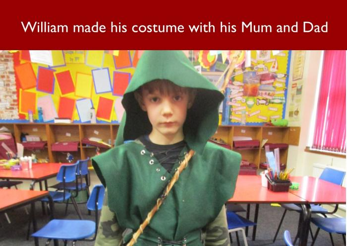 45 William made his costume with his Mum and Dad
