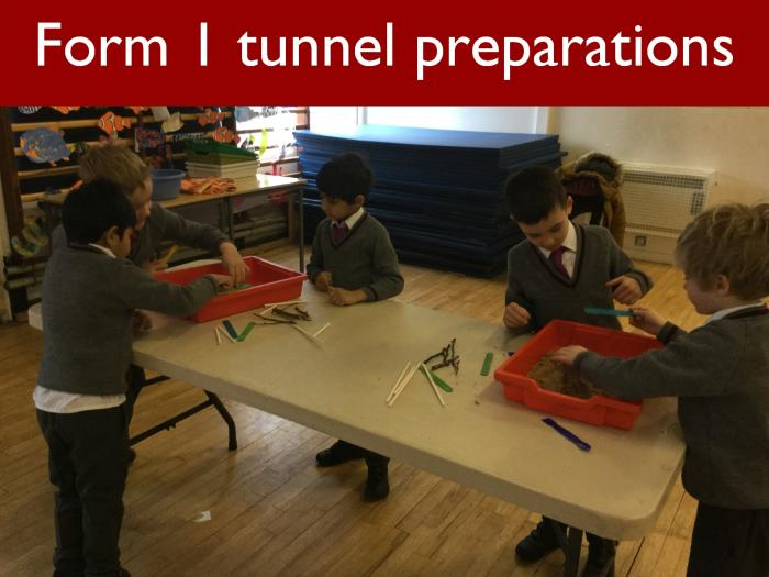 13 Form 1 tunnel preparations