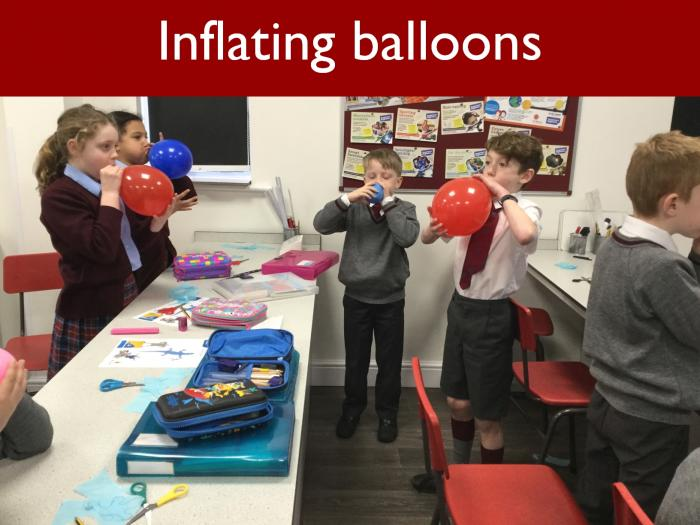 19 Inflating balloons