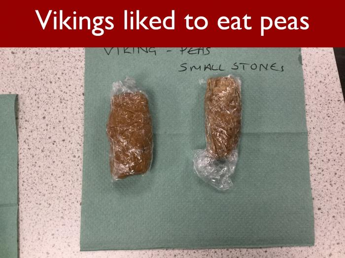7 Vikings liked to eat peas