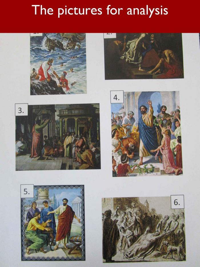 5 The pictures for analysis