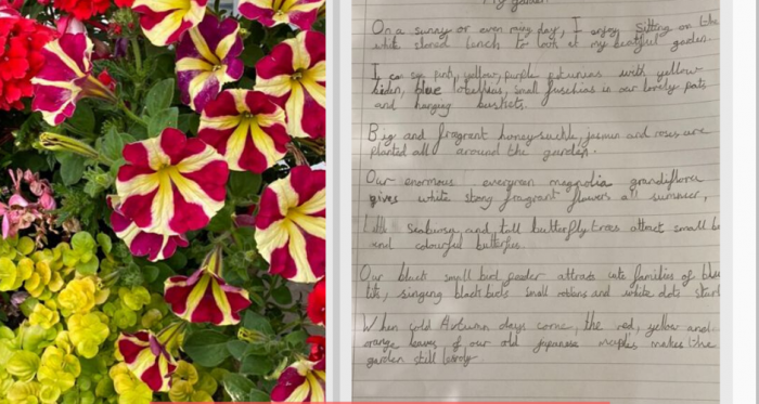 Form 3 Creative Writing: My Garden by Enzo (3AH)