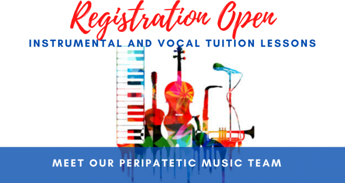 Meet our Peripatetic Music Team: Registration for Lessons Open