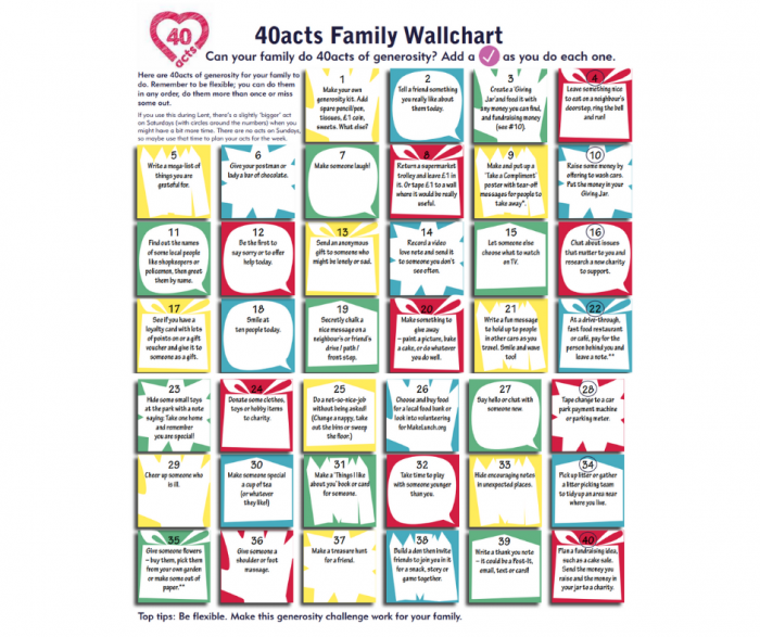 Easter 40acts Family Wallchart