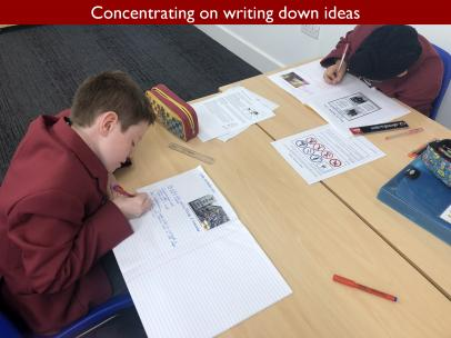 11 Concentrating on writing down ideas