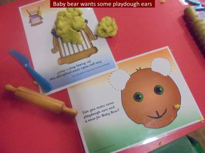 12 Baby Bear wants some playdough ears