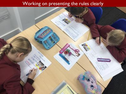 12 Working on presenting the rules clearly