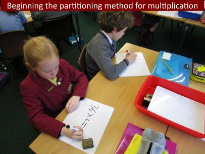 2 Beginning the partitioning method for multiplication