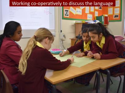 3 Working co operatively to discuss the language