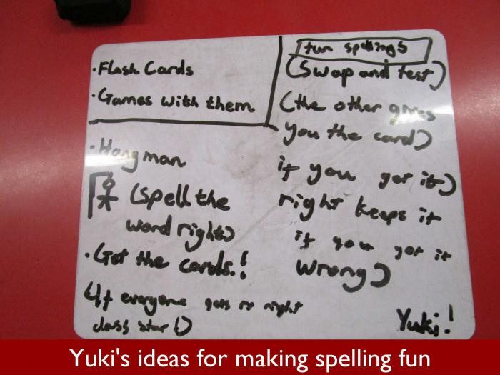 05 Yukis ideas for making spelling fun